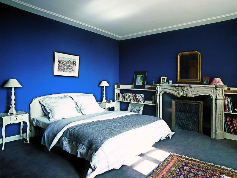 Интерьер синяя комната