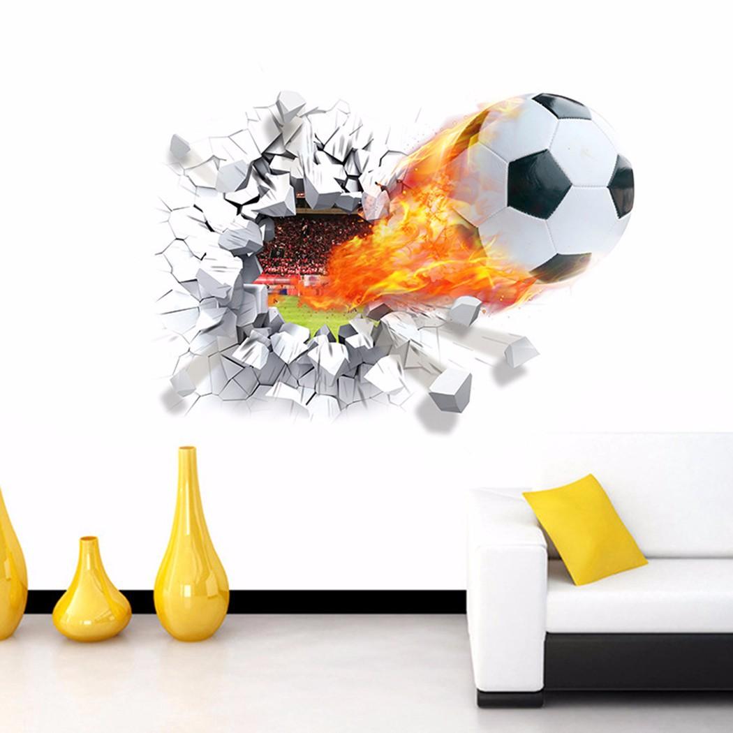 Custom Made Wallpaper, 3D Football Wall Mural